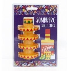 Get your drink on at parties and events with this funky set of Sombrero themed shot cups