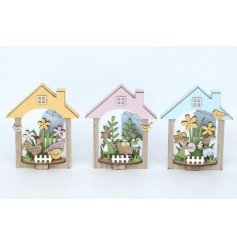 Add a sweet little homely touch to your easter displays this spring time with these coloured wooden decorations