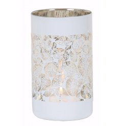 Add this chic gold and white toned tlight holder to any home for a classic luxe touch