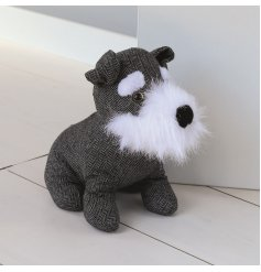 This fuzzy snouted doggy doorstop will look perfect in any chic living home