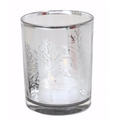 Bring a chilly chic touch to any home this winter with this fabulously simply glass tlight holder