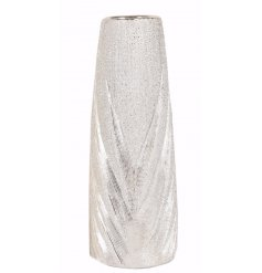 Add this glittered luxe inspired vase to any home decal for a chic glam touch