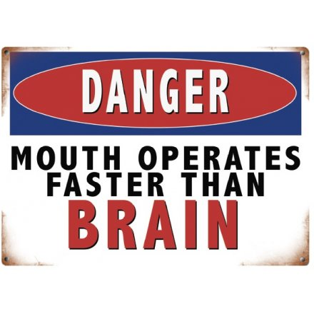 Danger Mouth Mini Metal Sign