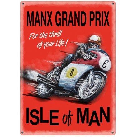 Manx Grand Prix Mini Metal Sign