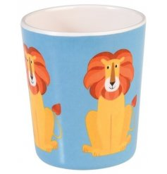 A fun colourful little drinking cup made from a strong melamine (it wont break if dropped!)