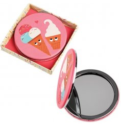 This chic little compact mirror is perfect for keeping in your handbag while on the go