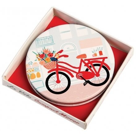 Floral Bike Compact Mirror