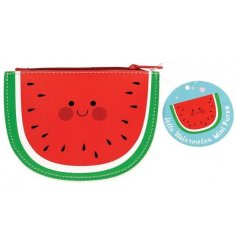 A sweet little watermelon shaped vinyl coin purse