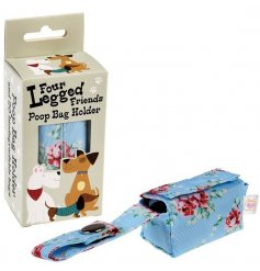Hold onto your doggie bags discreetly and stylishly with this chic hanging floral pattered baggy holder