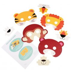 Let your little ones release their wild side with these funky colourful animal masks!