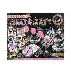 A fizzy dizzy prosecco party game
