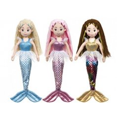 3 large soft toy mermaids dolls