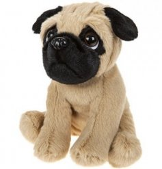 Puppy Dog - Pug  this adorable little sitting plush puggy will be a perfect compainion to any little one