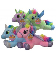 Super soft and huggable materials build up these enchanting unicorns