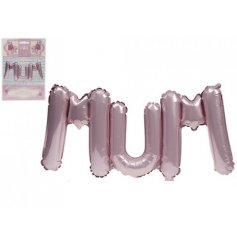 "A 30"" pink mum text balloon"