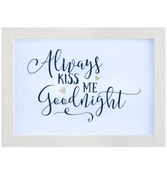 Bring a subtle glow to any space of your home with this beautifully finished wooden frame plaque