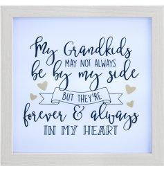 Bring a sweet and chic vibe to any home with this grandparents themed LED wall frame