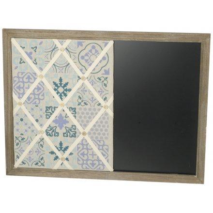 Wooden Blue Tone Chalkboard