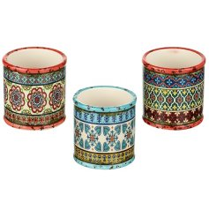 Bring a colourful bohemian vibe to any space of your home or garden with these colourfully chic ceramic planters