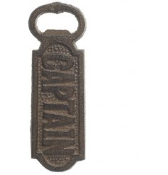 Iron Captain Bottle Opener  A trendy cast iron bottle opener