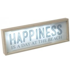 Bring a nautical feel to your home with this chic wooden framed LED sign