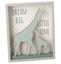 Add a sweet touch to any nursery room with this beautifully sentimental 3D plaque