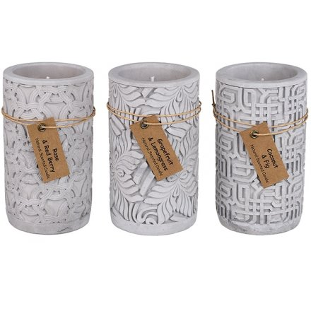 Scented Concrete Potted Candles