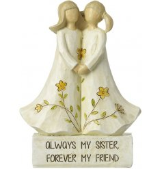 Add a sweet heartfelt touch to any gift with this sweet sister inspired resin ornament