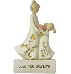 Add a sweet heartfelt touch to any gift with this sweet grandma inspired resin ornament