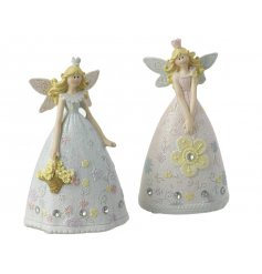 Add a glittery touch to any princess inspired scene with these resin fairy princess figures