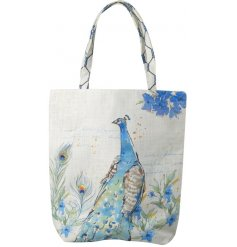 Add a chic bright blue touch to your shopping sprees with this strong fabric canvas bag