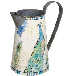 This beautifully finished metal decorative jug will add a statement chic touch to any windowsill