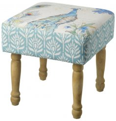 Bring a beautiful watercolour inspired look to your home with this blue toned peacock foot stall