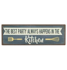 A rustic inspired looking magnetic sign with a sweet homely quote