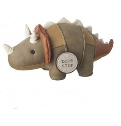 This simplistic little sitting dinosaur door stop will bring a tanned trend to any home
