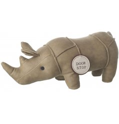 This simplistic little sitting Rhino door stop will bring a tanned trend to any home