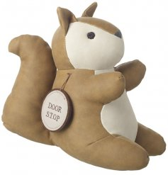 This simplistic little sitting squirrel door stop will bring a tanned trend to any home
