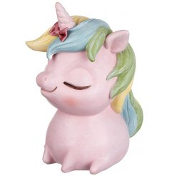 Save up all your earned pennies in this adorable pastel themed money bank