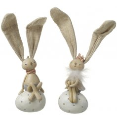 These adorable siting bunny figures will bring a sweet touch to any easter themed displays this Spring time