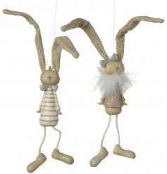 With their pastel resin bodies and dangly string legs, this assortment is perfect for the home at Easter