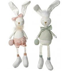 An adorable assortment of Large Fabric Sitting Rabbits