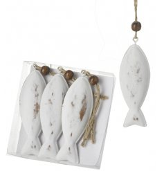 Add a simple nautical touch to your home decor with these little hanging metal fishies,