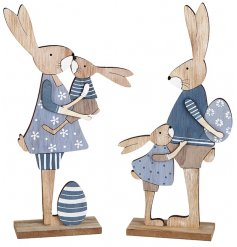 A sweet assortment of standing bunny figures in a family formation