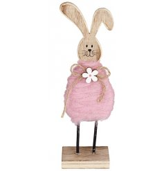 This dainty little wooden bunny decoration will look perfect in any spring inspired display