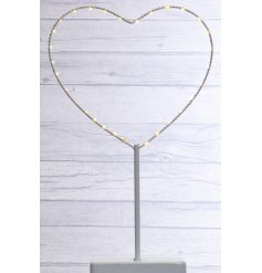 An LED Heart Standing Decoration