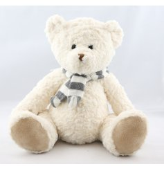 This super soft and luxuriously finished teddybear will make a great compainion for any little one