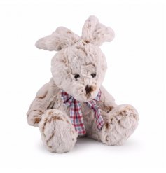 A 20cm soft toy bunny with gingham bow