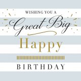 A great big happy birthday greeting card
