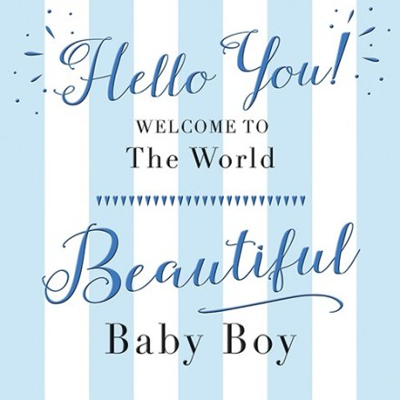Welcome to the world baby boy greeting card 38342 stationery welcome to the world baby boy greeting card m4hsunfo