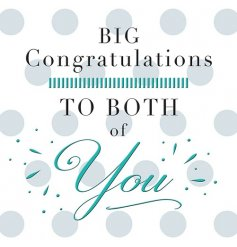 A big congratulations to both of you greeting card